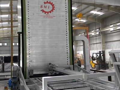 Resin line for processing slabs